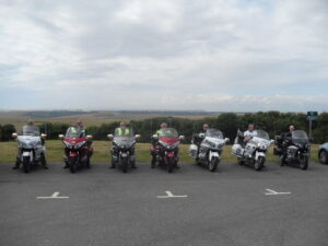 Lined up at Beachy Head